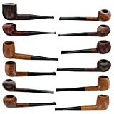 Pascal Piazzolla Briar Smoking Pipes - Assorted 12 Pack