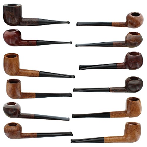 Pascal Piazzolla Briar Smoking Pipes - Assorted 12 Pack by Pascal Piazzolla