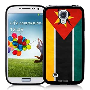 Cool Painting Flag of Mozambique Grunge - Protective Designer BLACK Case - Fits Samsung Galaxy S4 i9500