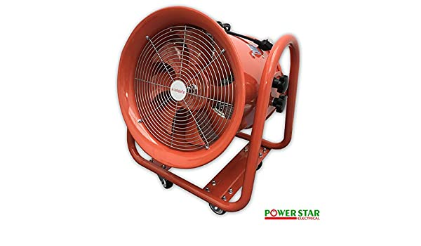 Ventilador portátil de aire industrial eje de metal soplador comercial escape taller extractor ventilador 12 pulgadas: Amazon.es: Bricolaje y herramientas