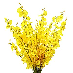 Artificial Flowers Orchids Silk Fake Flowers in Bulk, 12 Pcs (Each 38.5″), for Wedding Festive Party Home Office Decoration, Not Include Vase