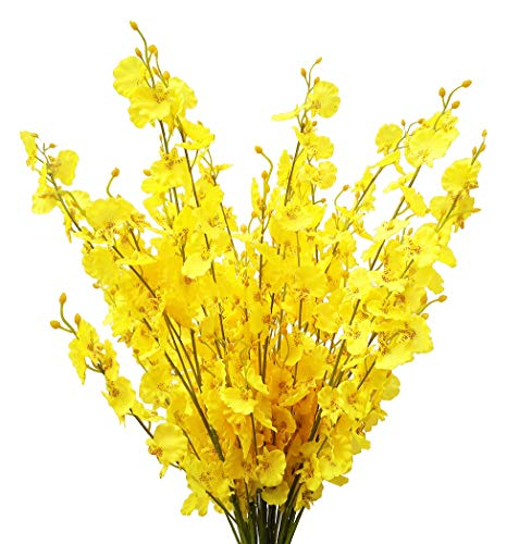 Festive Decorations - Artificial Flowers Orchids Silk Fake Flowers in Bulk, 12 Pcs (Each 38.5