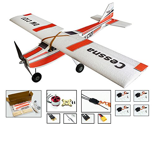 RC Airplane Trainer EPP Foam Plane Cessna 960mm Wingspan Fixed Wing, Electric RC Plane Drone Flying Aircraft Model for Adults, 4 Channel Remote Control Airplane Hobby Kits for Fun(KIT+Motor+ESC+Servo)