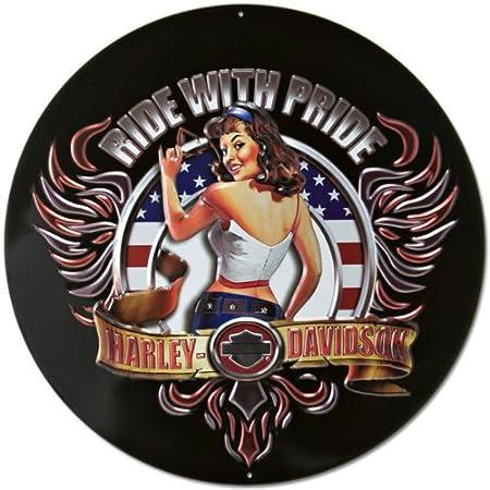 Harley-Davidson - Cartel de Lata, diseño de Babe Americano ...