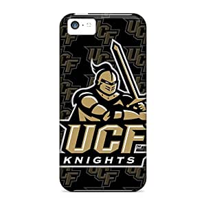 Shock Absorption Hard Cell-phone Cases For Iphone 5c With Support Your Personal Customized Lifelike Ucf Knights Skin InesWeldon