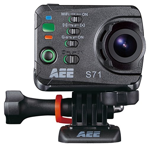 AEE Technology Action Cam S71 4K 1080P 16MP Slim Body Wi-Fi Waterproof Wireless Action Camera with 2.0-Inch LCD (Black)