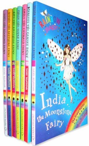 Jewel Magic - Rainbow Magic Jewel Fairies Collection 7 Books Pack Set (Series 22 to 28) RRP £27.93 (India the Moonstone Fairy, Scarlett the Garnet Fairy, Emily the Emerald Fairy, Chloe the Topaz Fairy, Amy the Amethyst Fairy, Sophie the Sapphire,Lucy the Diamond) (Rainbow Magic Jewel Fairies)
