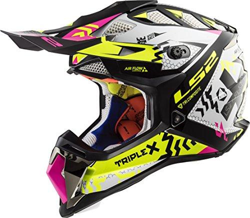 Gator Blue Gloss - Medium LS2 Helmets MX-Off Road Fast V2 Helmet