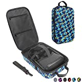 Esimen Fashion Travel Case for Oculus Quest VR Gaming Headset and Controllers Accessories Carrying Bag (Blue)