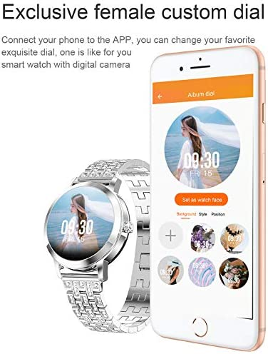 Womens Fitness Tracker Blood Pressure Heart Rate Monitor Activity Tracker Waterproof Pedometer Step Counter Calorie Sleep Monitor Touch Screen Bluetooth Smart Watch for Android iOS 7