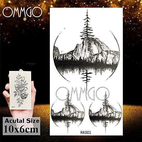 Yyoutop India Tribal Fox e Tattoo Etiqueta de Papel Negro Luna ...