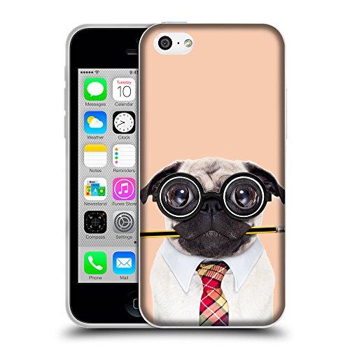 GoGoMobile Coque de Protection TPU Silicone Case pour // Q05790604 Chien bête stupide Albicocca // Apple iPhone 5C