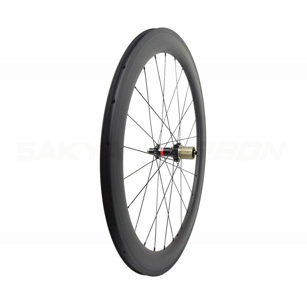 カーボン ホイールセット チューブラー 3K仕上げ 自転車ホイール ロードレース用 Novatec ハブ(AS511SB/FS522SB)スポーク リム幅25mm  リム深60mm 重量は約1535g B07CN3WCBK3K光沢 ホイールセット 1ペア