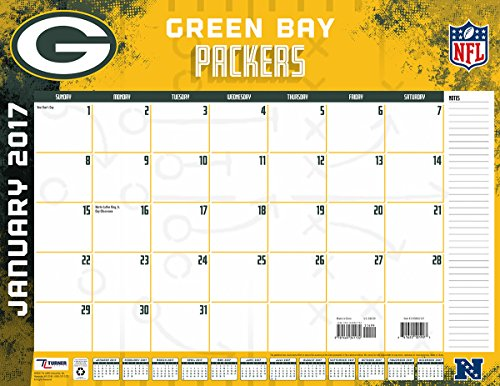 "Turner Licensing Sport 2017 Green Bay Packers Desk Pad Calendar, 22""X17"" (17998061537)"