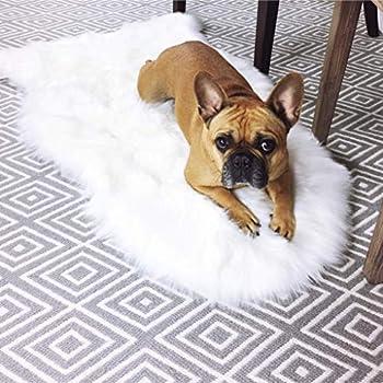 Amazon Com Ikea 302 290 77 Tejn Faux Sheepskin Ivory