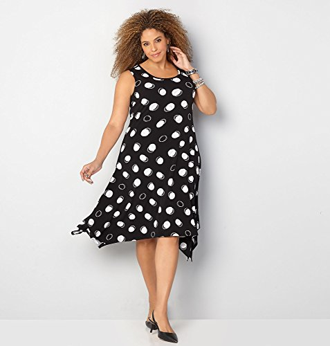 AVENUE-Womens-Double-Dot-Sharkbite-Dress