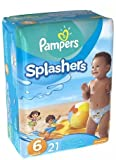 Pampers Splashers Swim Diapers Size 6 21.0ea (PACK OF 4)