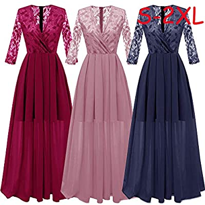 Dresses for Womens, FORUU Ladies Women Vintage Princess Chiffon Lace Cocktail V-Neck Party Aline Swing Dress
