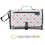 Baby Changing Pad,Portable Diaper Changing Pad,Diaper Bag Mat,Foldable Travel Changing Station - Perfect for Toddlers, Infants or Newborns - Bonus Memory Head Pillow + Pacifier Clip