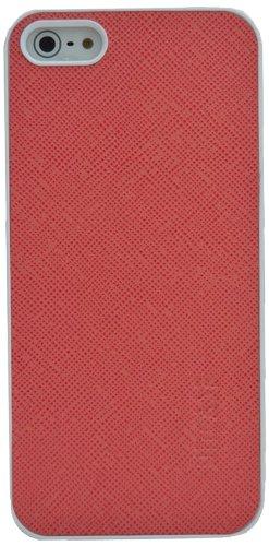 Suncase étui en cuir-coque et film de protection d'écran pour apple iPhone 5/5S rose/cuir grainé)