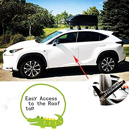PACASK New Mini Folding Portable Car Door Latch Hook Step Foot Pedals Ladder for Jeep SUV Truck Roof