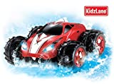 Powerful Amphibious Remote Control Car, Drives on Land & Water, 200 Ft. Control Range, 360 Degree Spins, LED Headlights, Red Car