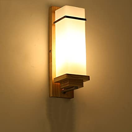 Amazon.com: Nordic Simple Modern Wall Lamp Creative Japanese Solid ...