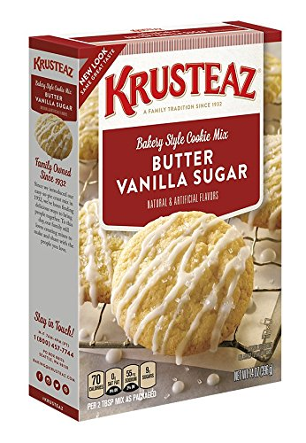 Krusteaz Cookie Mix (Krusteaz Bakery Style Cookie Mix, Butter Vanilla Sugar, 14-Ounce Boxes (Pack of 12))