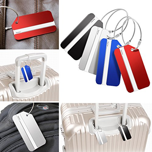Luggage Tags, Bag Tag Travel ID Labels Tag For Baggage Suitcases Bags, 8 Pack