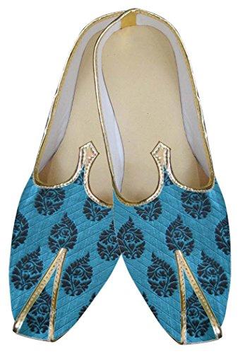INMONARCH Clásico Zapatos MJ0073 Boda de Azul Hombres HwEqw8