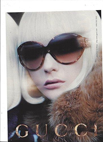 PRINT AD For 2006 Gucci Sunglasses Blonde In Fur - 2006 Sunglasses