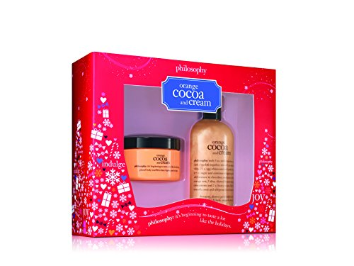 Shower Gel Philosophy Moisturizing - Philosophy Orange Cocoa and Cream Duo, Shampoo/Shower Gel/Bubble Bath, Glazed Body Cream, 4oz/8oz