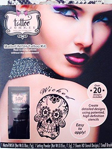 Tattoo Junkee Body Art Cosmetics, MatteFINISH Tatoo (Uncle Fester Makeup)