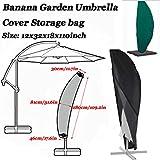 RGAta Banana Garden Umbrella Cover Cantilever Outdoor Sun Shade Umbrella Cover 12x32x18x110inch (1 piece)