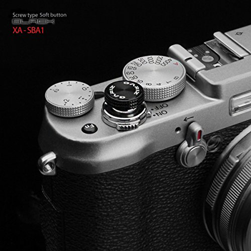 Gariz Metal XA-SBA1 Camera Screw Type Soft Button for X-PRO1 X100 X10 LEICA CONTAX, Black