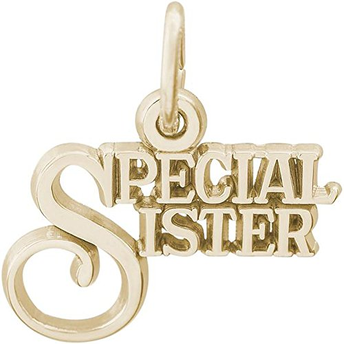 Rembrandt Charms Special Sister Charm in Gold OR Silver (14k Yellow Gold)