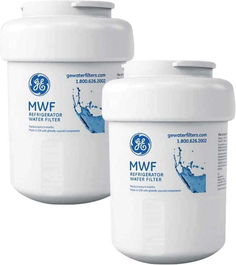 CLANORY MWF Water Filter for GE Refrigerator Water Filter Replacement(2 Pack)