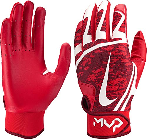 Nike Women's Hyperdiamond Edge Batting Gloves 2019 (Red/White, Medium) by Nike (Image #1)