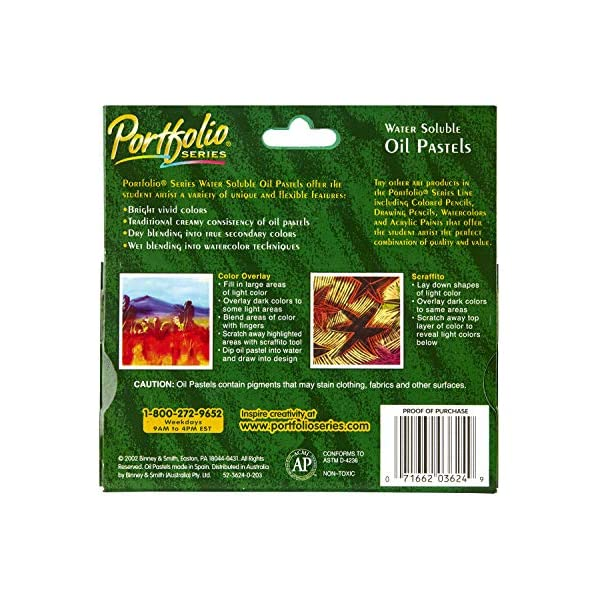 Crayola-Portfolio-Series-Water-Soluble-Oil-Pastels-24-Brilliant-Opaque-Colors-Tapered-Point-Blendable-Texture-Use-for-Wet-or-Dry-Artworks-Great-for-Art-Classes