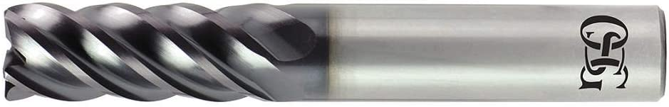 Number of Flutes: 5 Corner Radius End Mill 1//2 Milling Diameter 20555001 OSG Tap And Die 2055 5//8 Length of Cut TiAlN