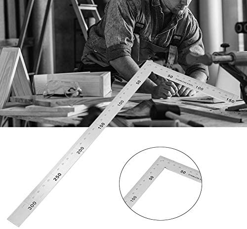 1x Steel L-Square Angle Ruler 90 Degree Ruler For Woodworking B7T1 Too Carp D6V6