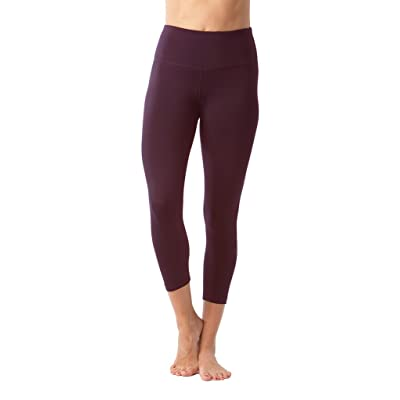 90 Degree By Reflex – High Waist Tummy Control Shapewear – Power Flex Capri - Napa Purple - Medium