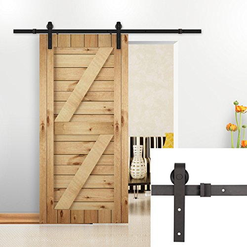 U-MAX 8 FT Sliding Barn Wood Door Basic Sliding Track Hardware - Package Shipping Track Standard