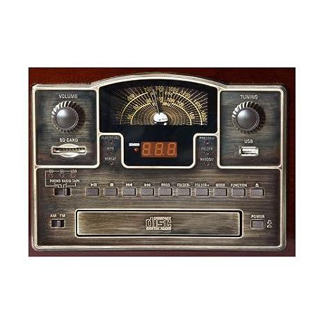 Lauson CL140 - Gramófono Cásico con cassete/cd/usb/sd/radio ...