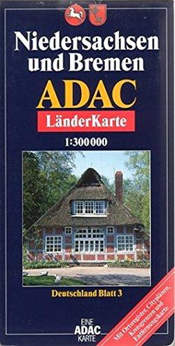 ADAC Karte, Niedersachsen und Bremen (ADAC BundesländerKarten Deutschland) Landkarte – Folded Map, 1. Oktober 2005 ADAC Verlag GmbH 3826412095 INF1000044400 Stadtpläne