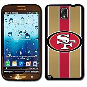 Samsung Galaxy Note 3 Black Rubber Silicone Case - San Francisco Forty Niners Football by ruishername