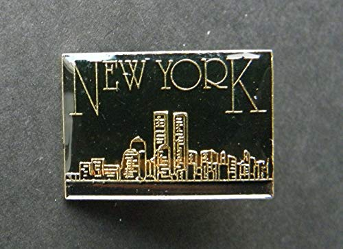 Pin for Jackets - New York Manhattan Nights Lapel HAT PIN Badge 1 INCH - Accessories for Men and Women
