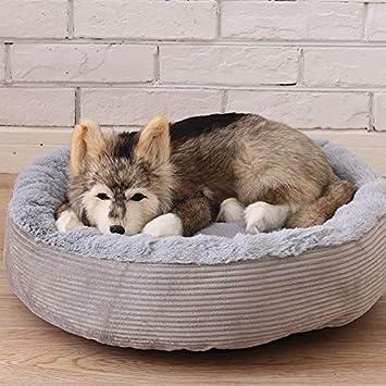 Cupcinu Nido de Mascota Redondo Cama para Perros Desmontable Nido para Gatos Gruesa y cálida para Perros pequeños y medianos durmiendo (Gris S): Amazon.es: ...