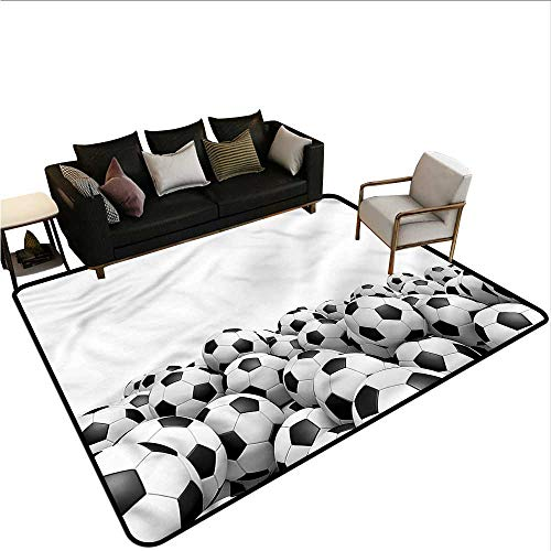 Cowboys Soccer Ball Mat - Sports,Floor Mats for Living Room 24