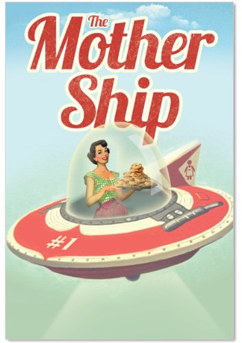 "9872 'Mother Ship' - Funny Mother's Day Greeting Card with 5"" x 7"" Envelope by NobleWorks"